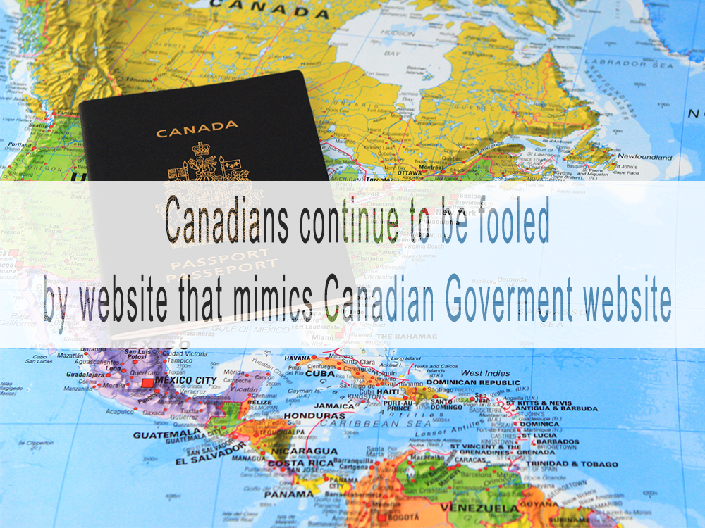 Canadians continue to be fooled by website that mimics government agency