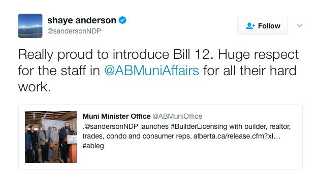 Shaye Anderson Bill 12 Tweet